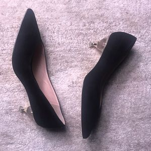 Size 8.5 Kate Spade pumps with lucite heel